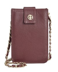 Giani Bernini Nappa Leather Smartphone Crossbody Oxblood