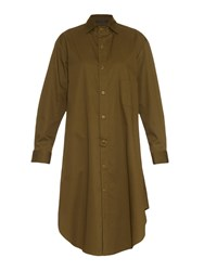 Yohji Yamamoto Regulation Cotton Twill Shirt Dress