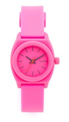 Nixon Small Time Teller Watch Hot Pink