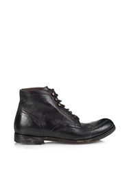 Dolce And Gabbana Distressed Leather Boots