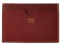 Obey Newbury Card Case Ii Oxblood Wallet Red
