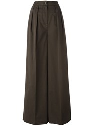 Moncler Wide Leg Trousers Green