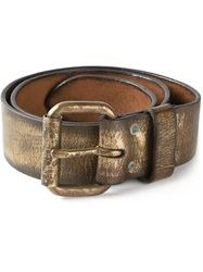 Ralph Lauren Distressed Metallic Belt Brown