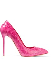 Alexander Mcqueen Textured Leather Pumps Pink