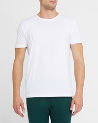 Knowledge Cotton Apparel White Organic Round Neck T Shirt
