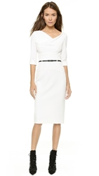 Black Halo 3 4 Sleeve Jackie O Dress Winter White