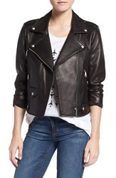 Rebecca Minkoff Women's 'Wes' Perforated Panel Leather Moto Jacket