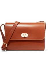 A.P.C. Atelier De Production Et De Creation Greenwich Leather Shoulder Bag Tan