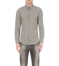Diesel S Chains Slim Fit Cotton Shirt White