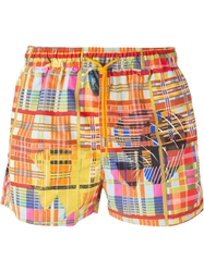 Etro Printed Swim Shorts Yellow And Orange