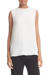 Vince Women's Seam Front Sleeveless Silk Top Chalk