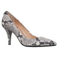 Michael Michael Kors Flex High Stiletto Heel Court Shoes Beige Comb Snake Print