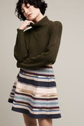 Anthropologie Hayley Skater Skirt Blue Motif