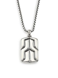 John Hardy Classic Chain Sterling Silver Dog Tag Necklace