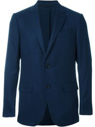 Ermenegildo Zegna Three Button Blazer Blue