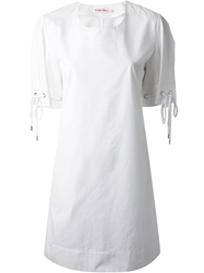 See By Chloe Tie Cuffs Shift Dress White