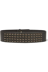 M Missoni Embellished Textured Leather Belt Black