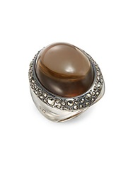 Pomellato 67 67 Collection Man Made Smoky Quartz Marcasite And Sterling Silver Ring