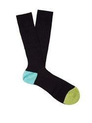 Pantherella Portobello Cotton Socks Navy