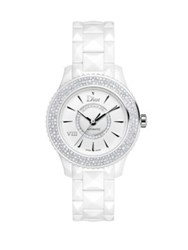 Christian Dior Dior Viii Diamond And White Ceramic Bracelet Watch