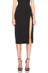 Cushnie Et Ochs Power Stretch Viscose Slit Skirt In Black