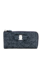 Salvatore Ferragamo Miss Vara Soft Denim Wallet