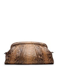 Stanwyck Python Frame Clutch Michael Kors Collection Peanut