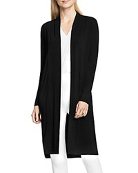 Vince Camuto Open Front Duster Cardigan Rich Black