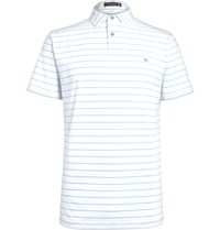 Peter Millar Quarter Striped Stretch Jersey Polo Shirt White