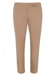 Dorothy Perkins Tab Front Crop Trouser White