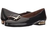 Aerosoles Good Times Black Leather Women's Flat Shoes