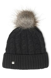 Lole Women's Faux Fur And Cable Knit Beanie