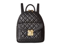 Love Moschino Quilted Emblem Mini Backpack Black
