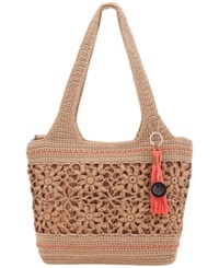 The Sak Casual Classics Large Crochet Tote Natural Floral