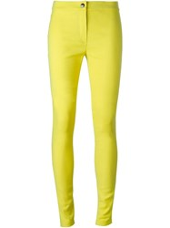 Ann Demeulemeester Slim Fit Trousers Yellow And Orange