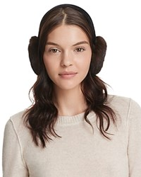 Surell Velvet And Mink Fur Earmuffs Brown