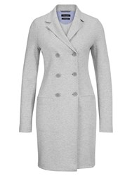 Marc O'polo Jersey Coat In Cotton Mix White