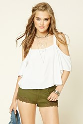 Forever 21 Crochet Lace Trimmed Shorts