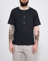 Our Legacy Pigment Weaved Henley Black