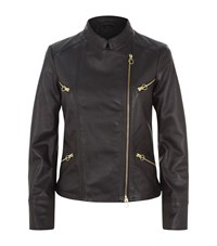 Pinko Smooth Leather Jacket Female Black