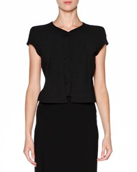 Giorgio Armani Techno Cady Cap Sleeve Jacket Black