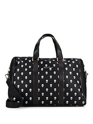 Robert Graham Skull Print Overnight Bag Black