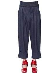 J.W.Anderson Baggy Pleated Raw Cotton Denim Pants