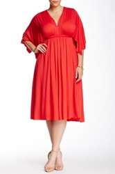White Label By Rachel Pally Solid Kaftan Dress Plus Size Red