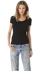 Splendid 1X1 Scoop Tee Black