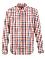 Gibson Check Tailored Fit Long Sleeve Shirt Orange