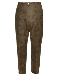 Golden Goose Camo Print Cotton Trousers