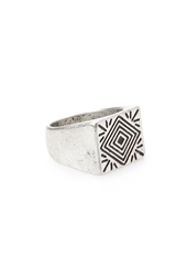 Forever 21 Etched Signet Ring Silver