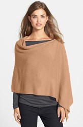 Women's In Cashmere Convertible Cashmere Poncho Brown Camel