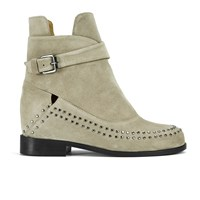 Thakoon Addition Women's Fiona 02 Suede Ankle Boots Grey Suede Studs